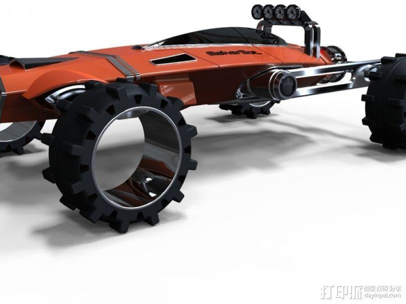 未来式越野车 3D模型  图1