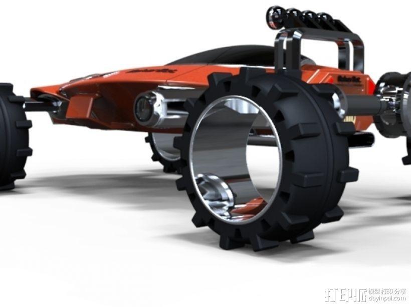 未来式越野车 3D模型  图3