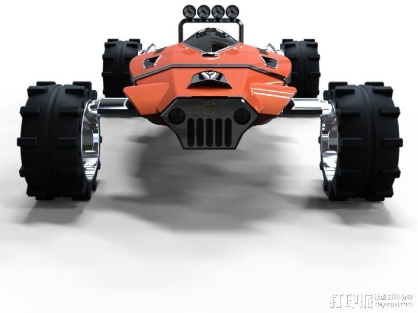 未来式越野车 3D模型  图4