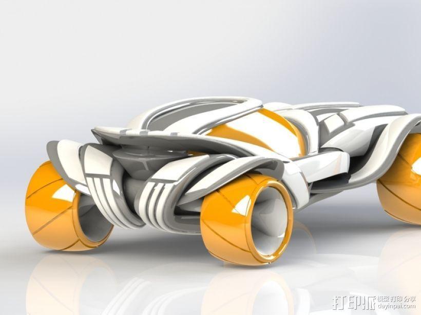 概念式超级跑车 3D模型  图1