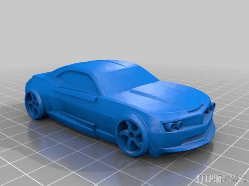 雪佛兰科迈罗汽车 3D模型  图1