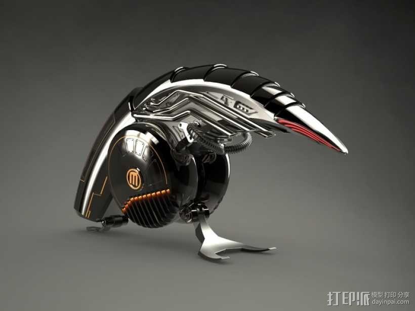 机械鸟 3D模型  图1