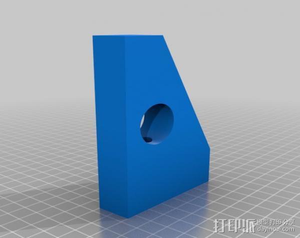 光剑墙壁固定座 3D模型  图2