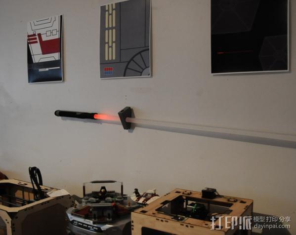 光剑墙壁固定座 3D模型  图4