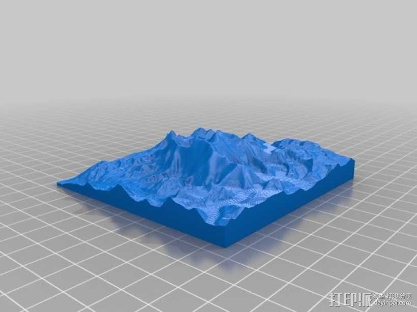 珠穆朗玛峰地形模型 3D模型  图1