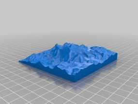 珠穆朗玛峰地形模型 3D模型