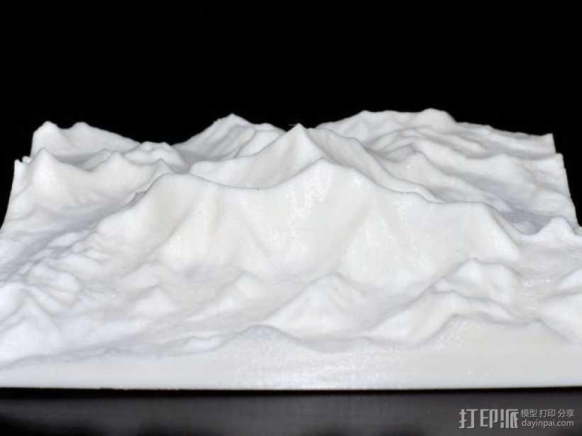 珠穆朗玛峰地形模型 3D模型  图2