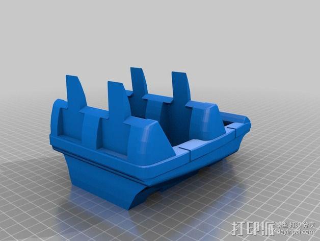 过山车车厢 3D模型  图1