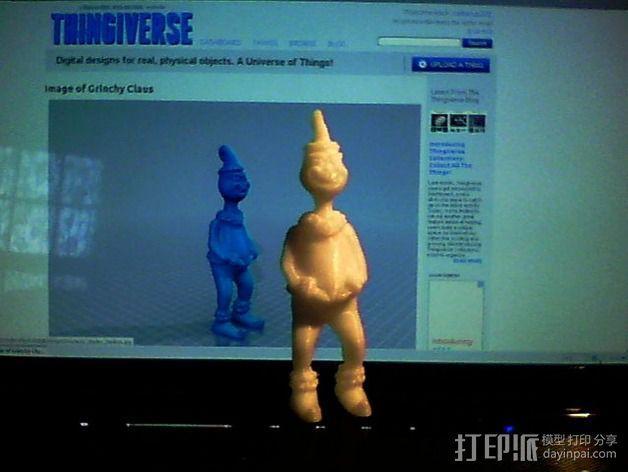 圣诞怪杰 格林奇 3D模型  图3