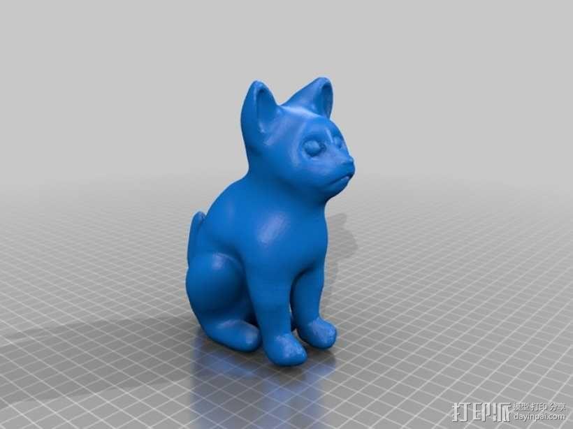 小猫 3D模型  图1