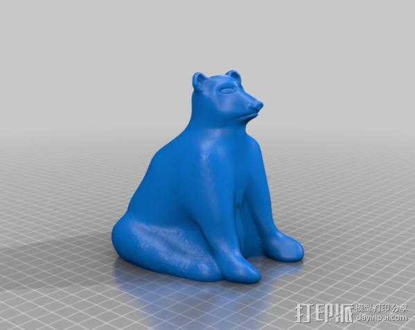 北极熊 3D模型  图1