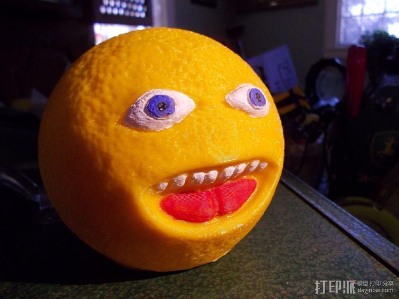 愤怒的橙子 3D模型  图1