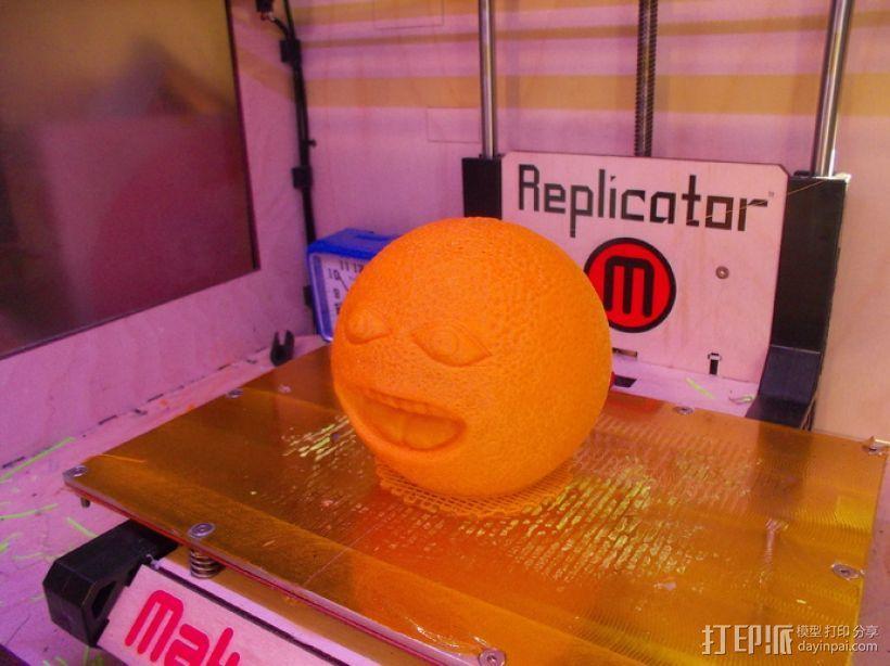 愤怒的橙子 3D模型  图3