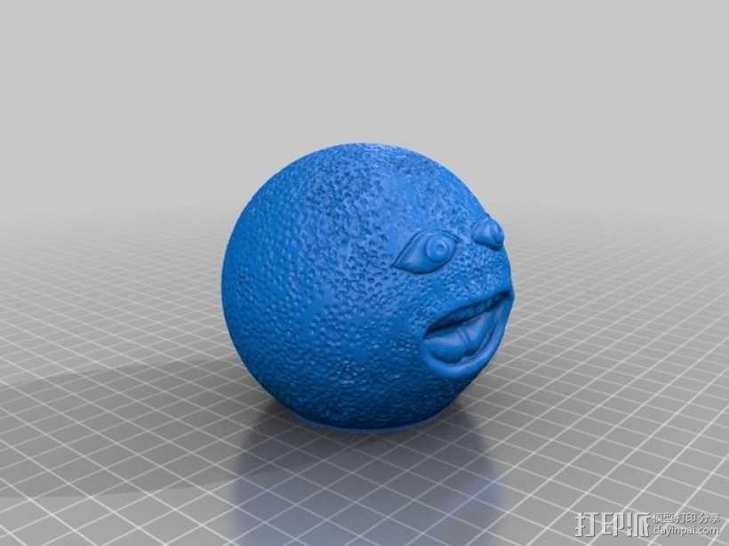 愤怒的橙子 3D模型  图4