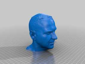 Cory Doctorow科利·多克托罗 头部模型 3D模型