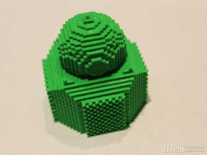 我的世界 寺庙体素模型  3D模型  图1