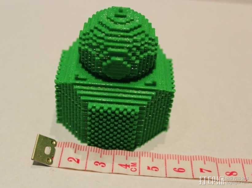 我的世界 寺庙体素模型  3D模型  图2
