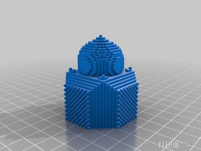 我的世界 寺庙体素模型  3D模型  图3