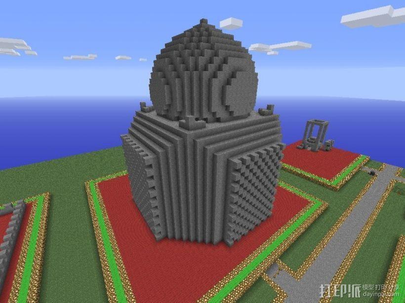 我的世界 寺庙体素模型  3D模型  图4
