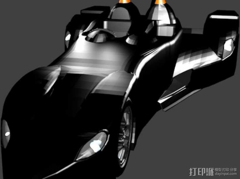 三角翼赛车 3D模型  图1