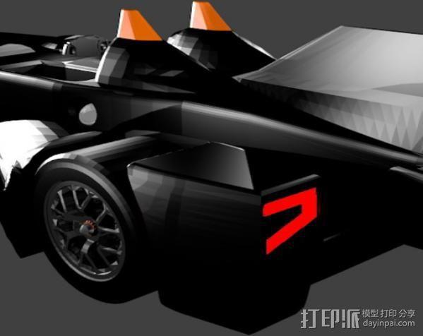 三角翼赛车 3D模型  图7