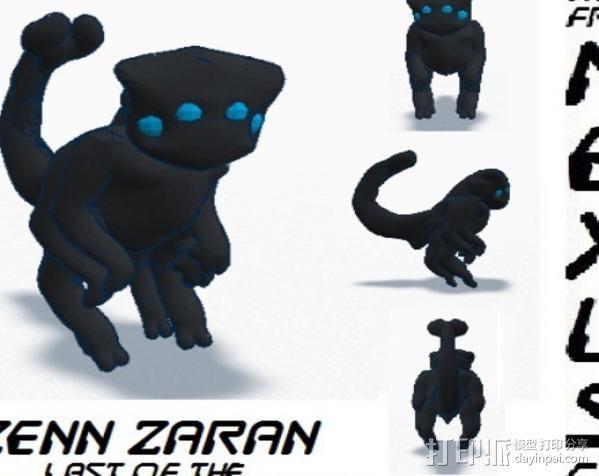 小黑猫战士 3D模型  图6