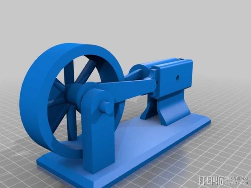 蒸汽机 3D模型  图1