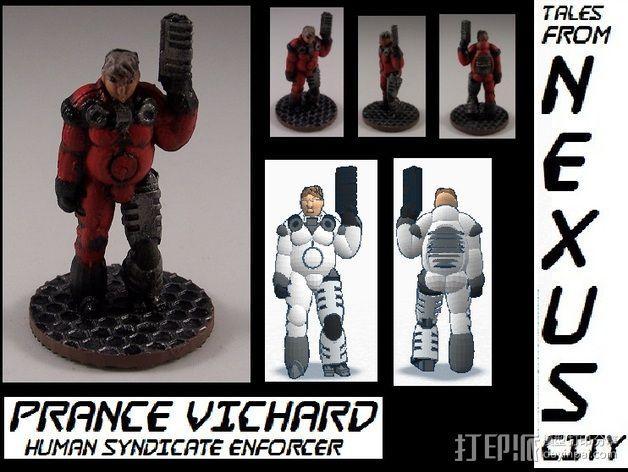 机械战士Prance Vichard 3D模型  图1