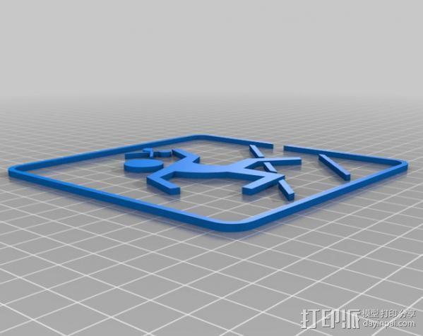 安全逃生标志 3D模型  图3
