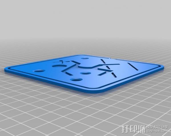 安全逃生标志 3D模型  图4