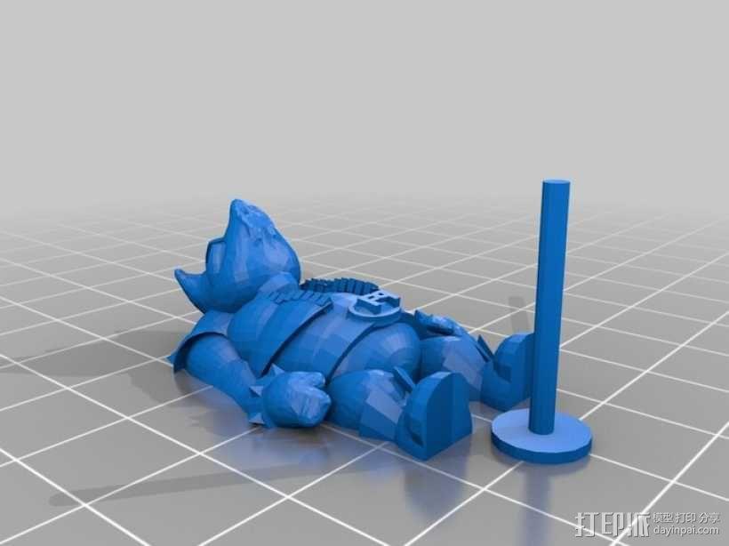 猪战士Fabiano Porcini 3D模型  图1