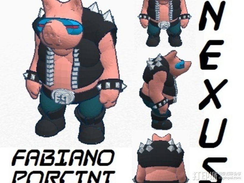 猪战士Fabiano Porcini 3D模型  图3