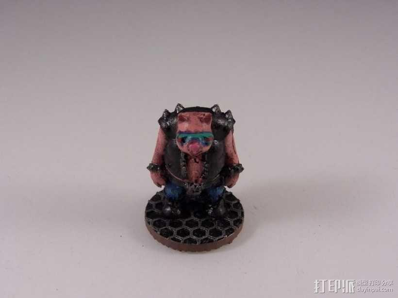 猪战士Fabiano Porcini 3D模型  图5