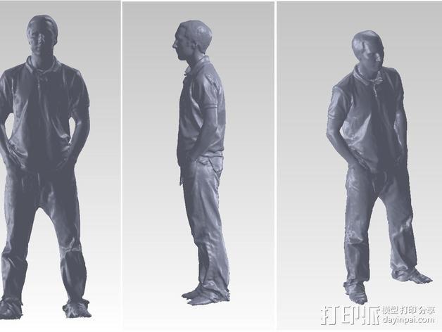 写实人物模型 3D模型  图2