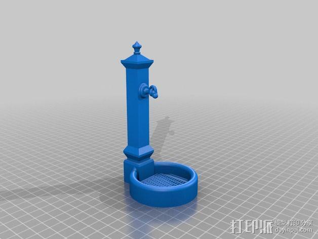 喷泉 3D模型  图2