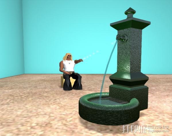 喷泉 3D模型  图3