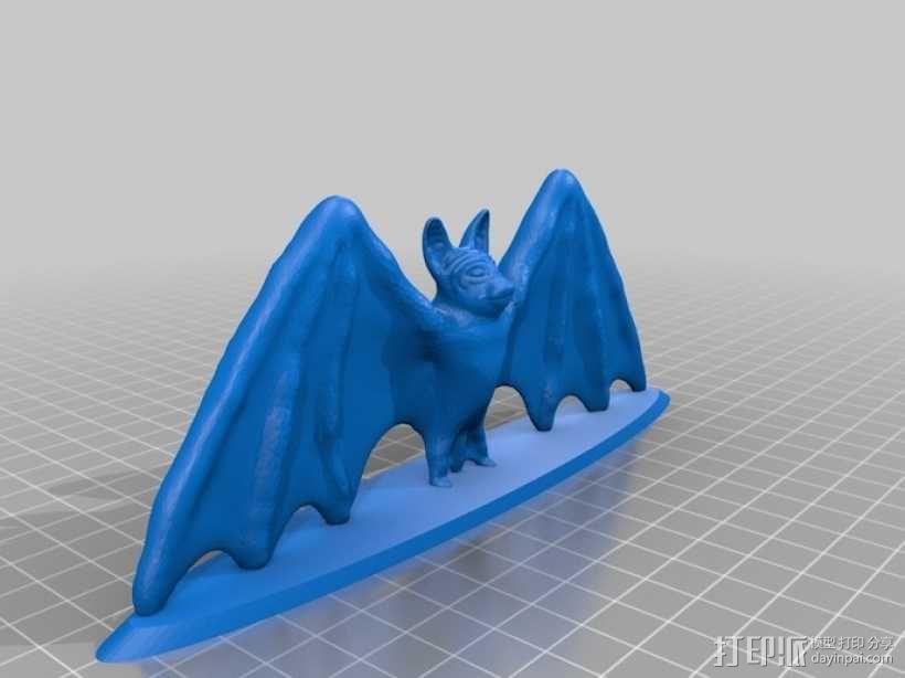 展翅的蝙蝠 3D模型  图1