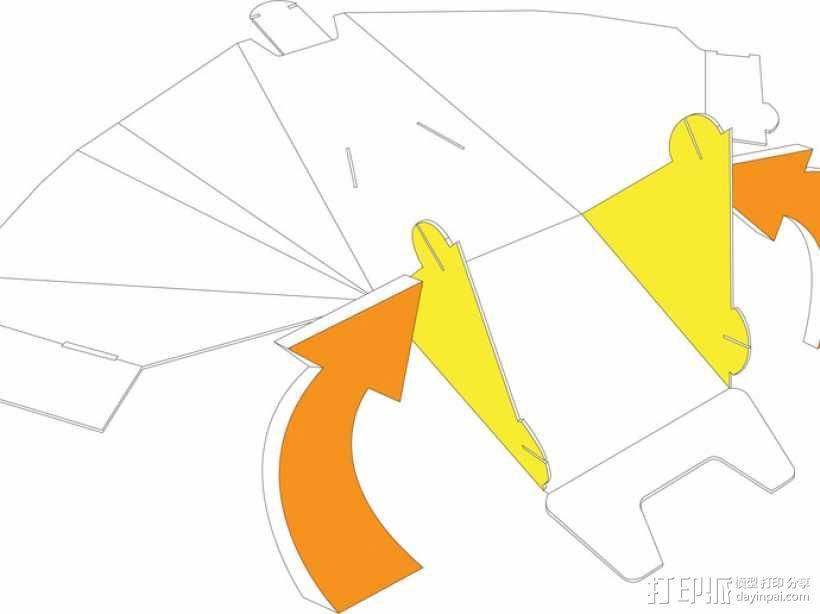凳子  胶折凳 3D模型  图9