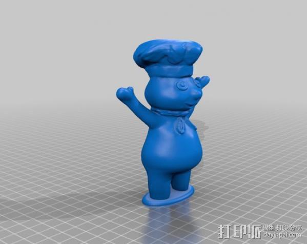 团子 动画造型 3D模型  图1