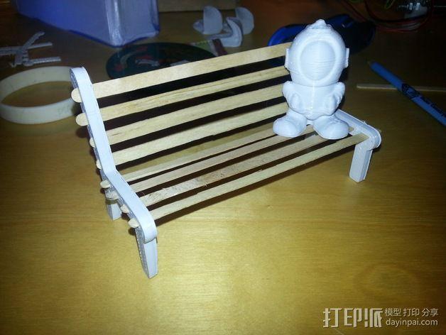 公园长椅 3D模型  图2
