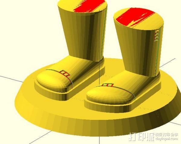 迷你靴子 3D模型  图4