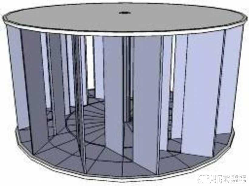 垂直风车 3D模型  图1