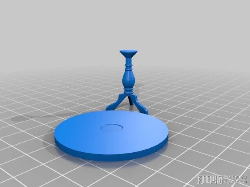 圆形茶几 3D模型  图1