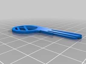 大众甲壳虫钥匙坯 3D模型