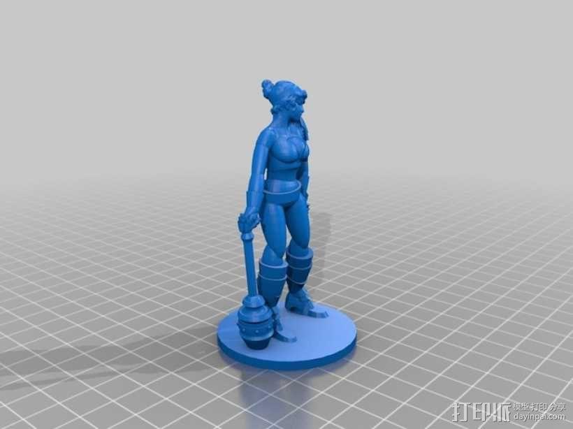 女战士Sappho 3D模型  图2