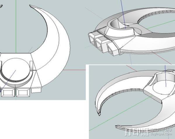 飞行的战车 3D模型  图3