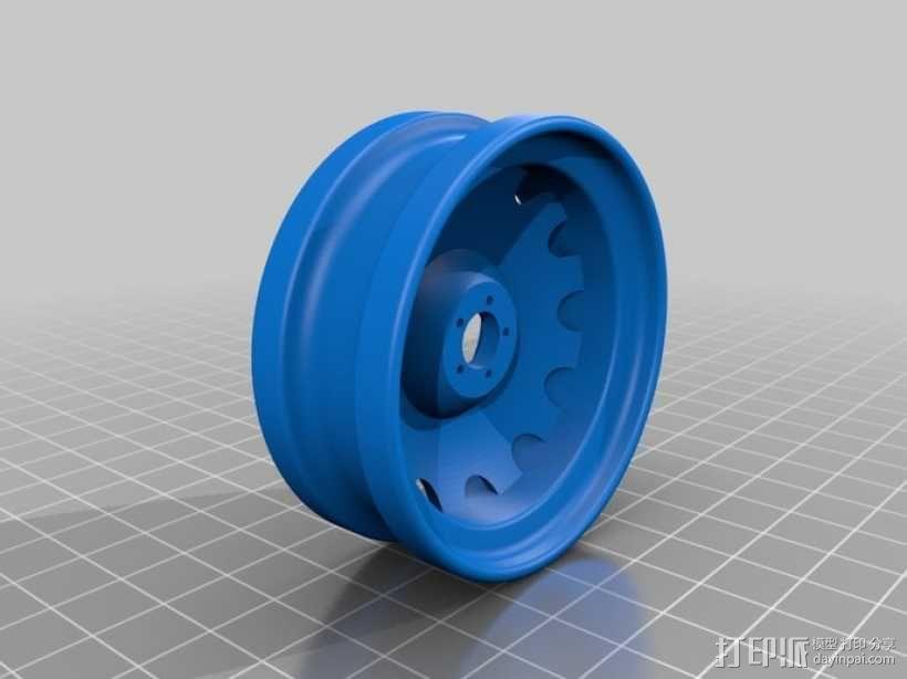 车前轮 3D模型  图1