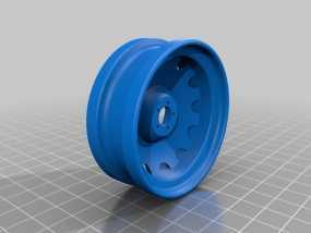 车前轮 3D模型
