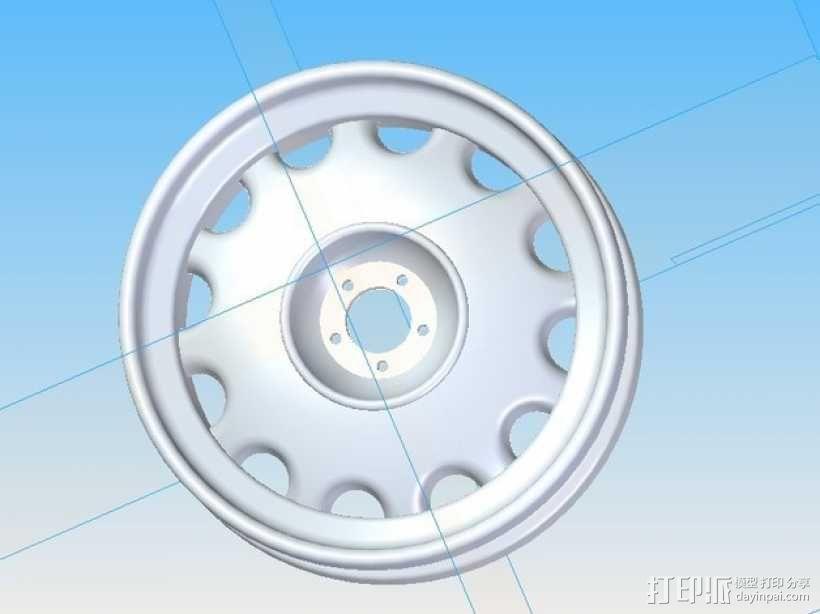 车前轮 3D模型  图2