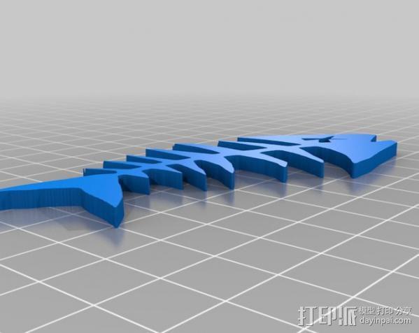 鱼骨  3D模型  图1